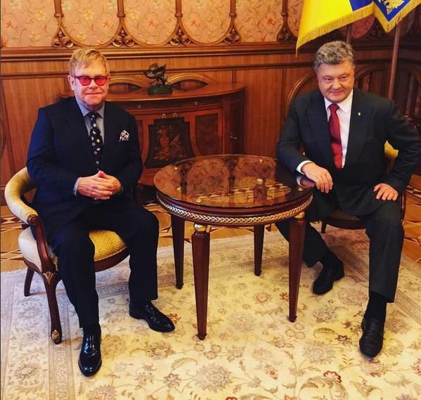 Elton John & Petro Poroshenko