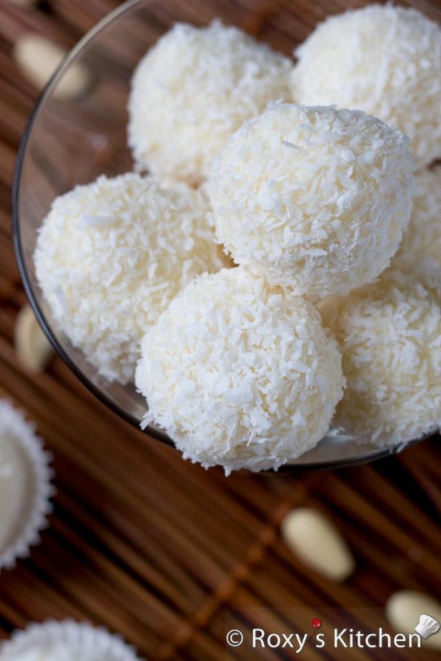 Homemade Raffaello Almond Coconut Candies Roxy S Kitchen