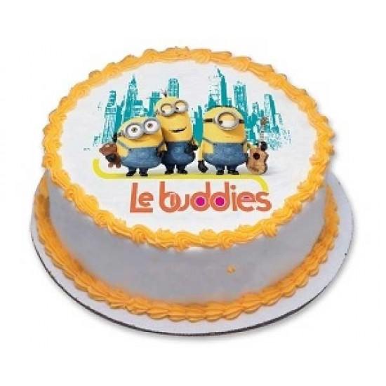 Cartoon Minions Photo Cake Cake Delivery In Delhi