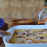 Clafoutis abricots lavande