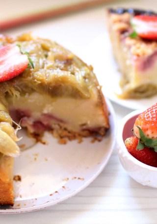 gateau martha stewart rhubarbe fraises