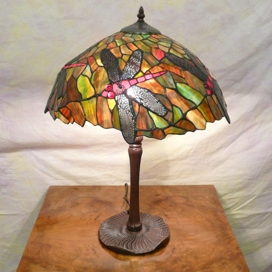 Tiffany Style Lamp Dragonfly Tiffany Lamps Bronze