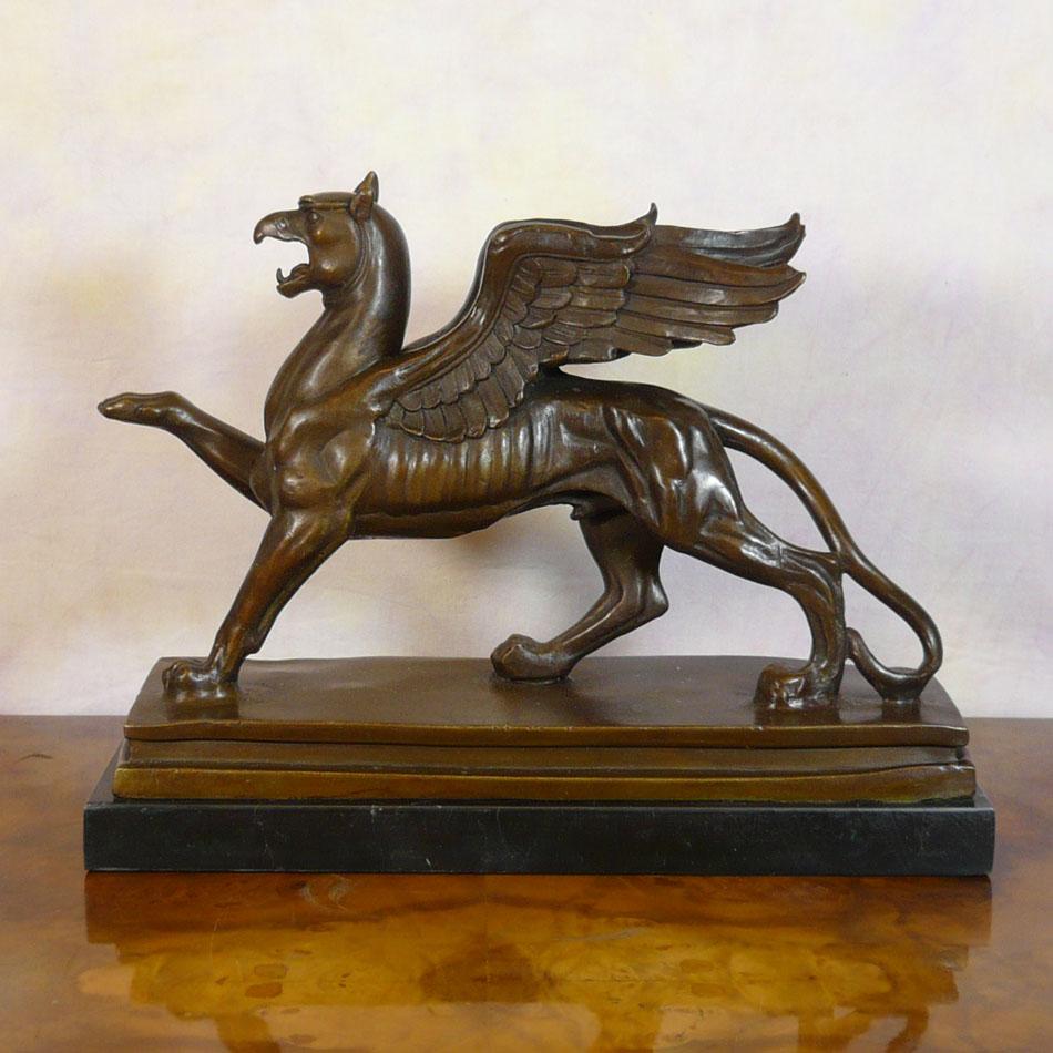 Bronze Sculpture The Griffon Statues Mythological