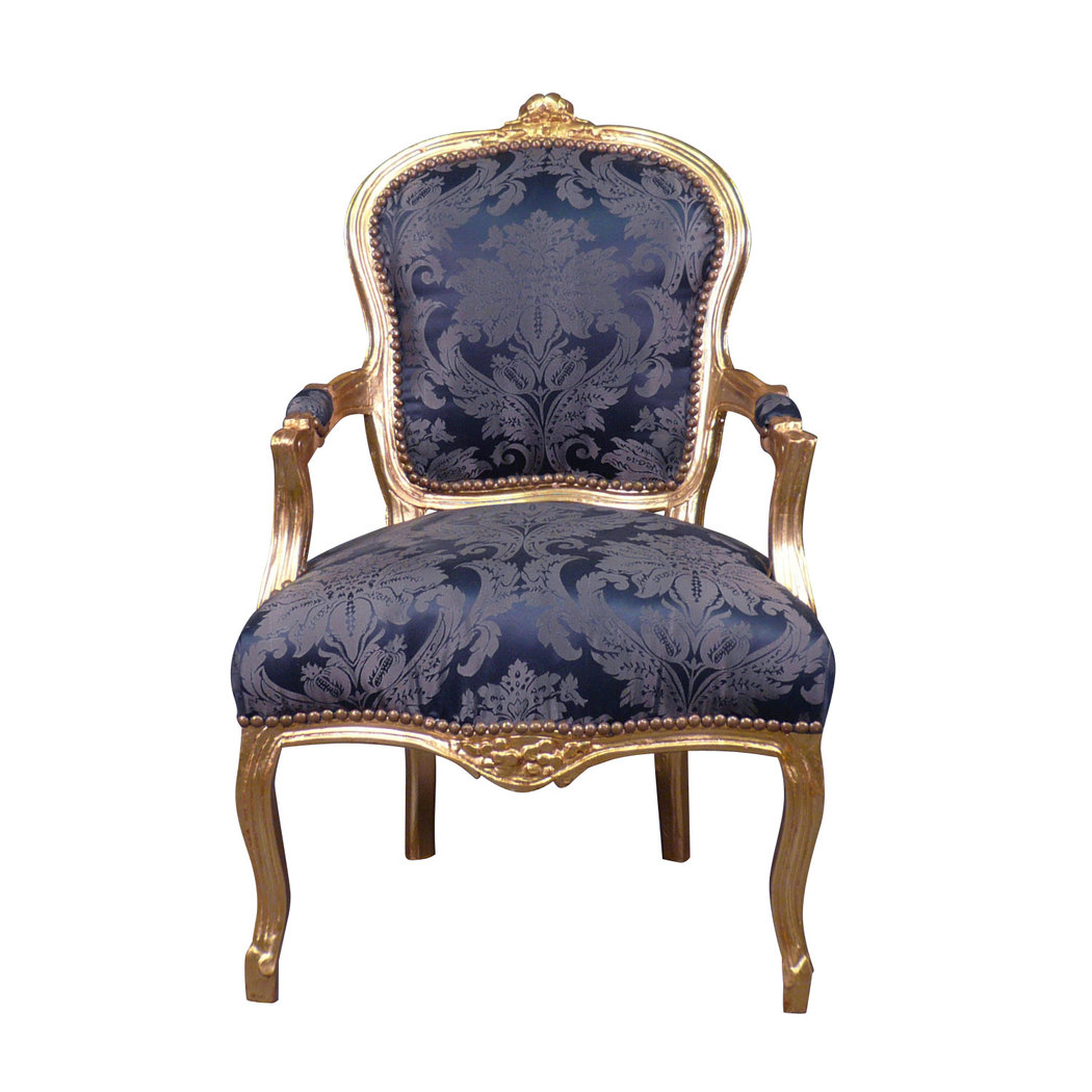 Fauteuil Louis XV Bleu Rococo Meuble Et Canap Baroque