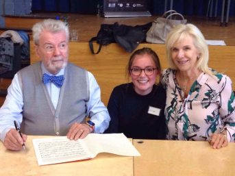 Lydia with Sir James and Lady Galway