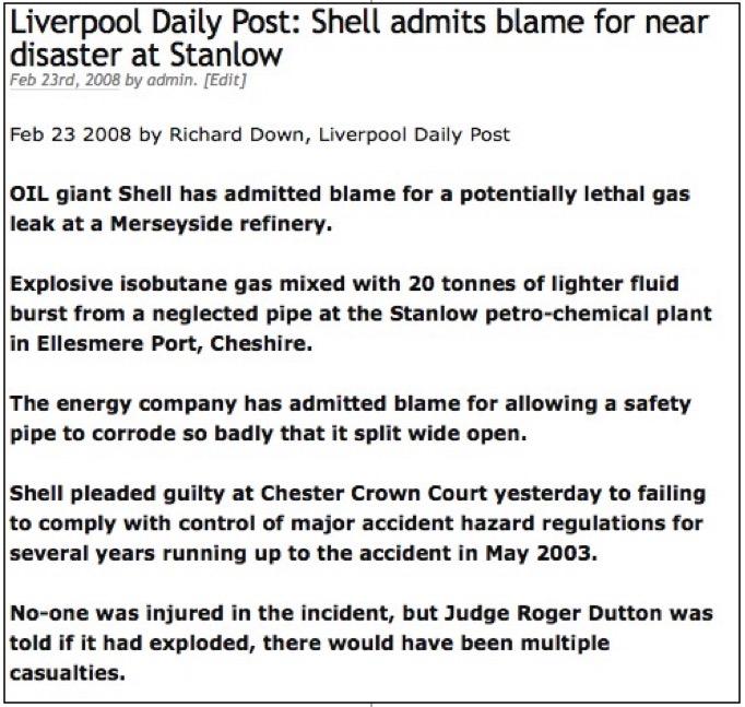 4: Royal Dutch Shell safety concerns
