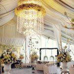 Arreglo Floral Colgante cristales para bodas y eventos