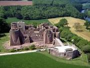 Goodrich Castle in the English county of Herefordshire