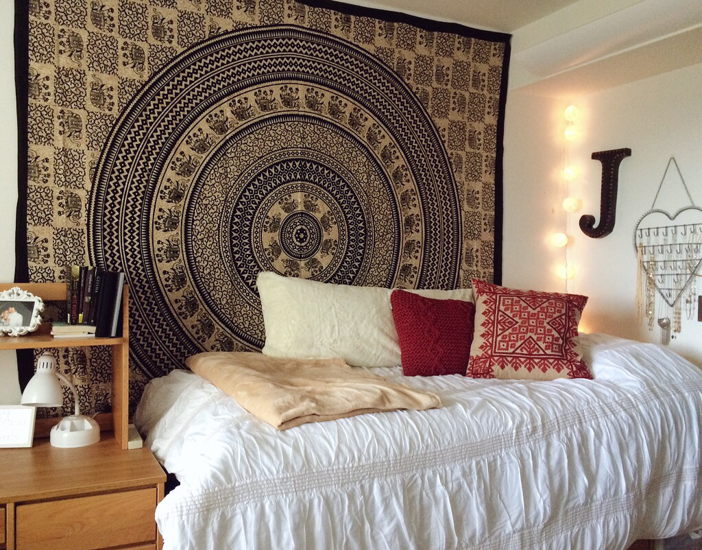 Image result for tapestry dorm room