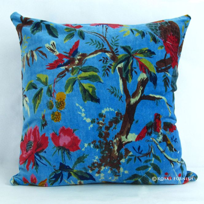 16 Orange Ethnic Indian Decorative Cushion Pillow Cover Mirror Work Embroidery