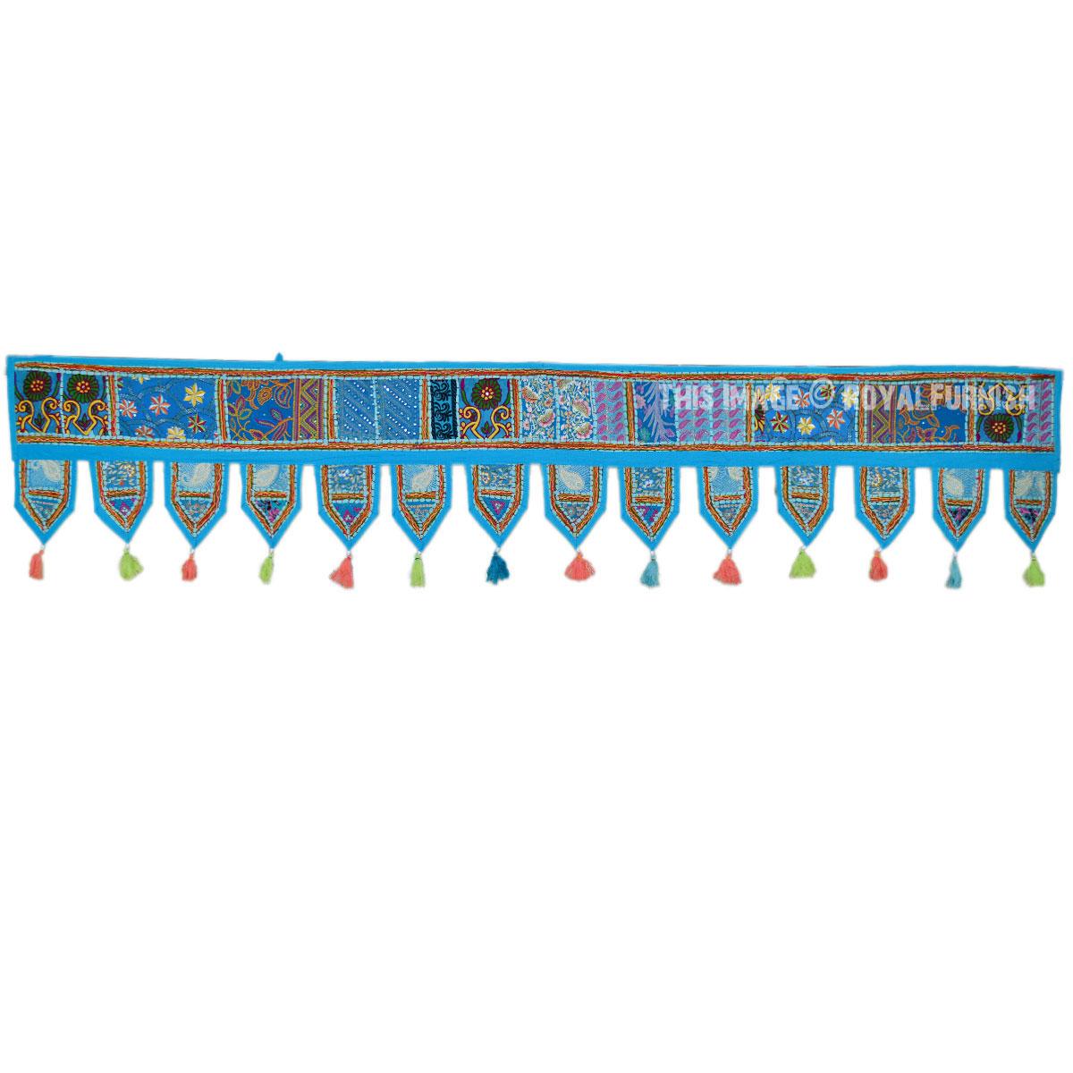 Turquoise Multicolor Toran Window Valance Door Hanging