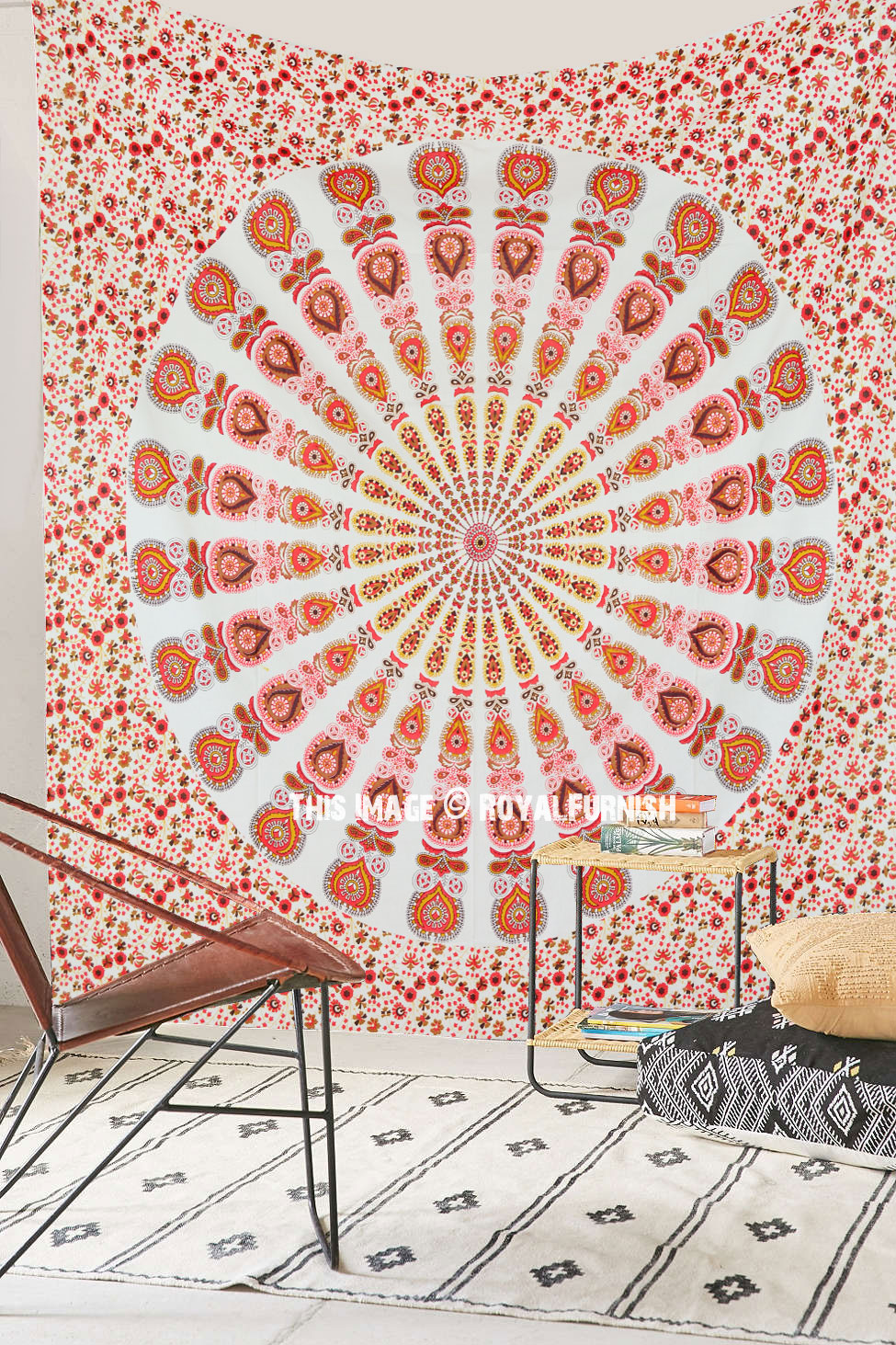 Large Colorful Bohemian Mandala Tapestry Indian Hippie Wall Hanging