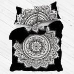 Black White Rangoli Bohemian Gypsy Mandala Bedding Duvet Cover Set With 2 Pillow Shams Royalfurnish Com
