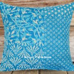 Turquoise Blue Pretty Succulents Boho Throw Pillow Cover 16x16 Inch Royalfurnish Com
