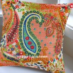 16 Multi Hand Stitched Paisley Kantha Decorative Pillow Sham Royalfurnish Com