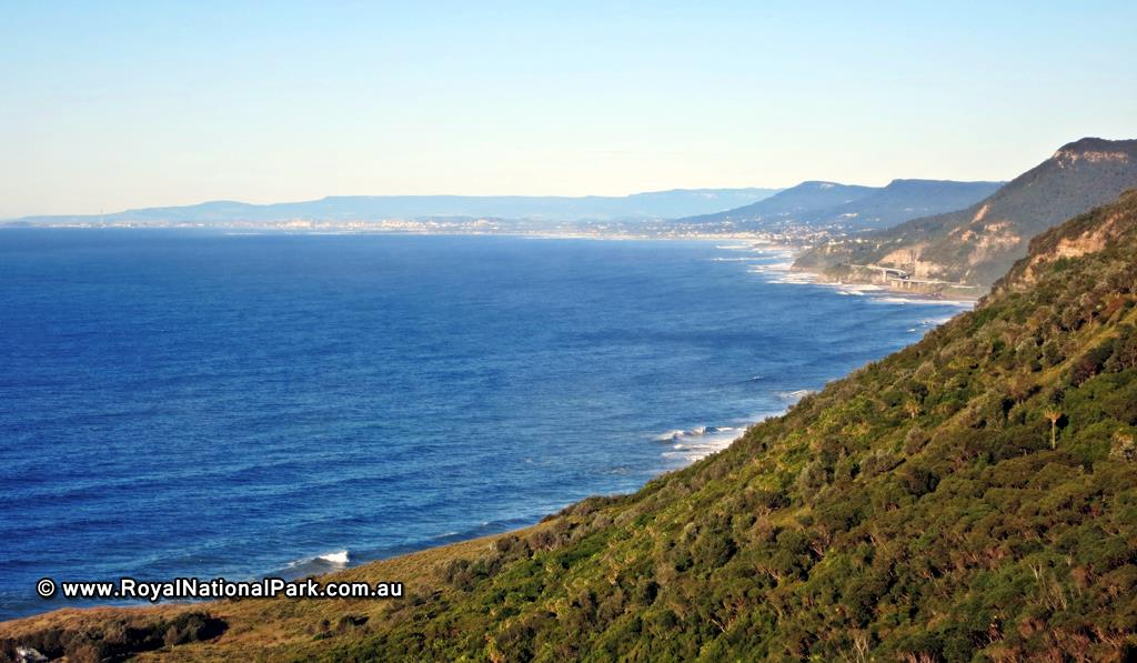 Otford Lookout - looking south towards Woollongong and the Sea Cliff Bridge