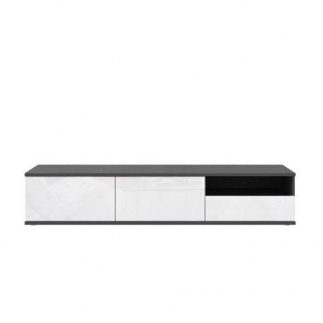 finlandek meuble tv huono 193cm gris et blanc
