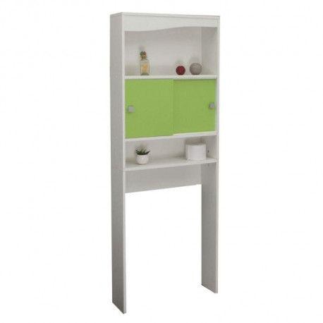 galet meuble wc ou machine a laver l 64 cm vert pomme