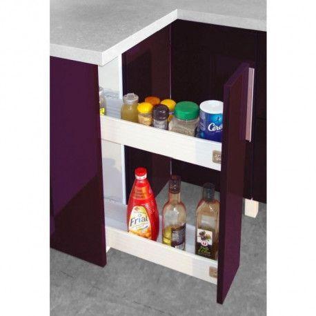 pop meuble bas de cuisine a epices 15 cm aubergine haute brilllant
