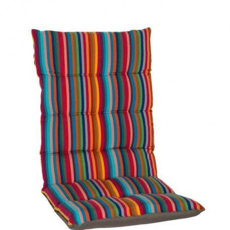 jardin prive coussin futon de fauteuil haut dossier la catalane 85x42x5cm