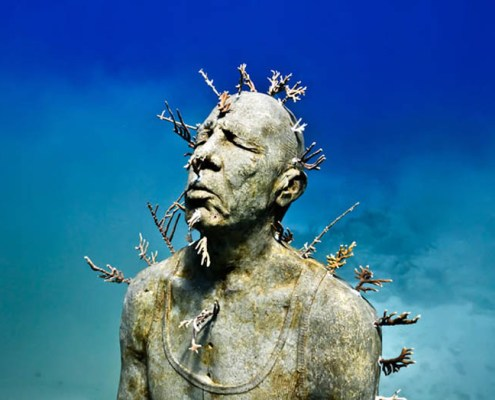 Snorkel tour in the Cancun Underwater Museum MUSA