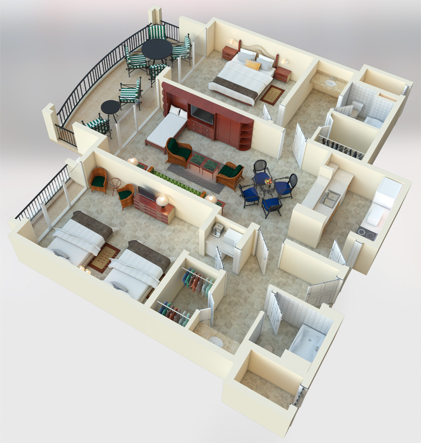 Royal Caribbean 2 Bedroom Suites