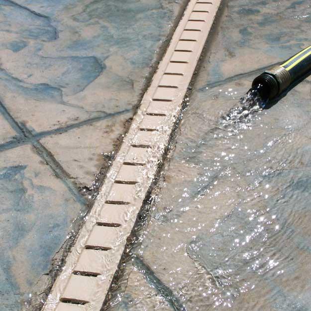 stegmeier deck drain tan 8 10 lengths