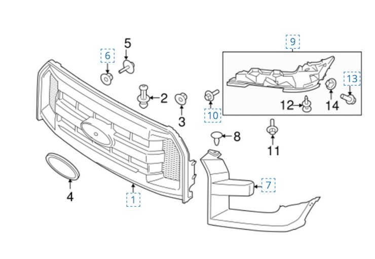 Ford F250 Oem Parts Diagram