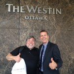Apple Co-founder, Steve Wozniac with Ed