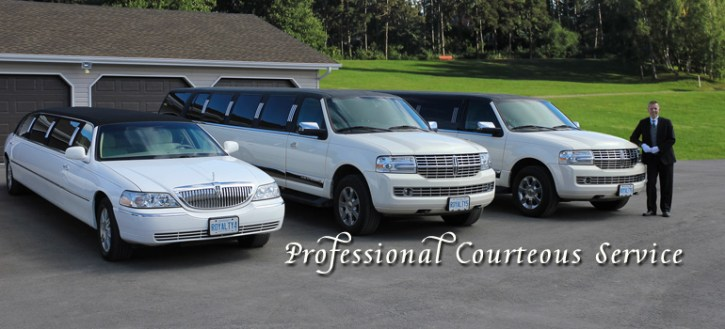 Some of the vehicles in our fleet of stretched limousines
