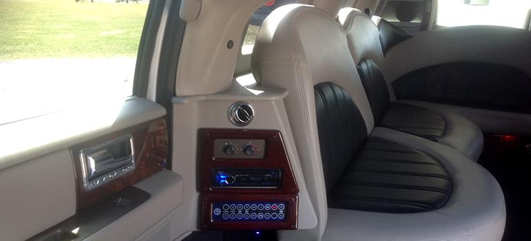 2012 All White Lincoln Navigator interior