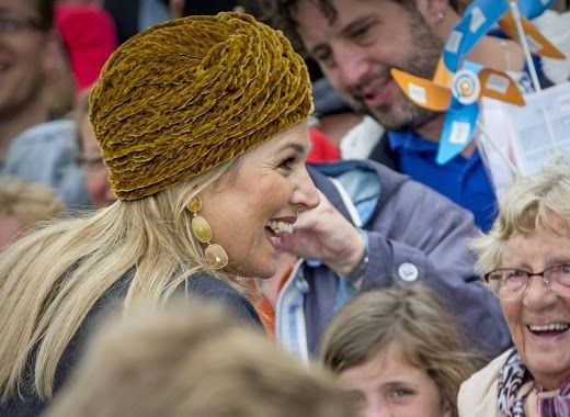 Queen Maxima Greeting Crowds at Zwolle, he Netherlands