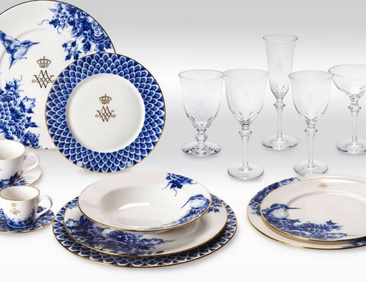 Blue Dinnerware and Tiaras Added Zing to Dutch Royal Gala