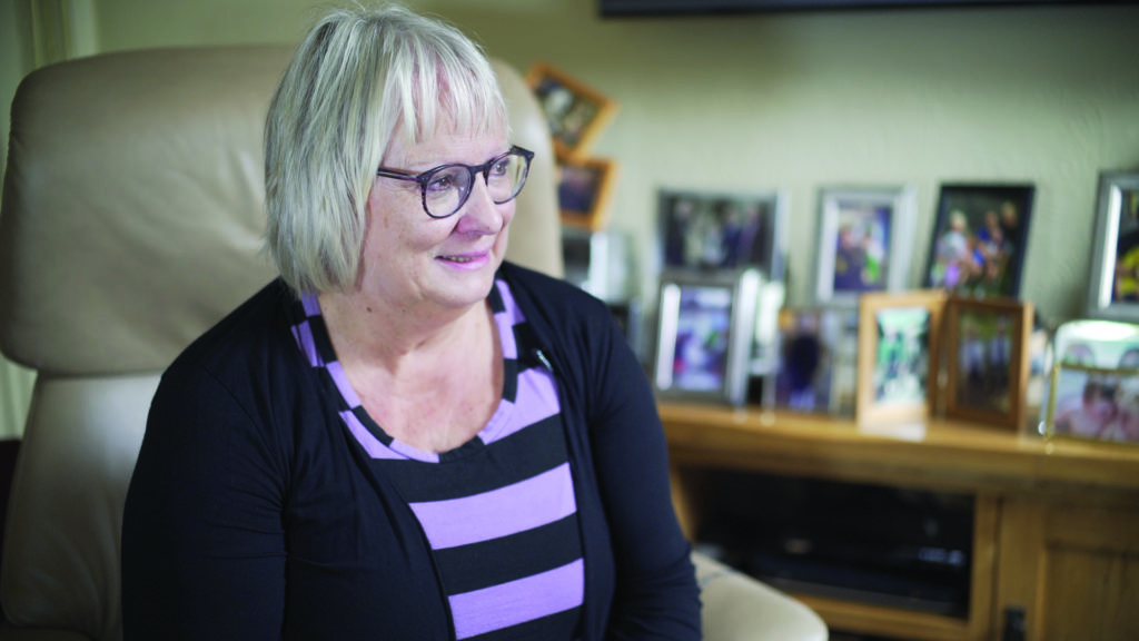Liz had surgery after she was diagnosed with lung cancer