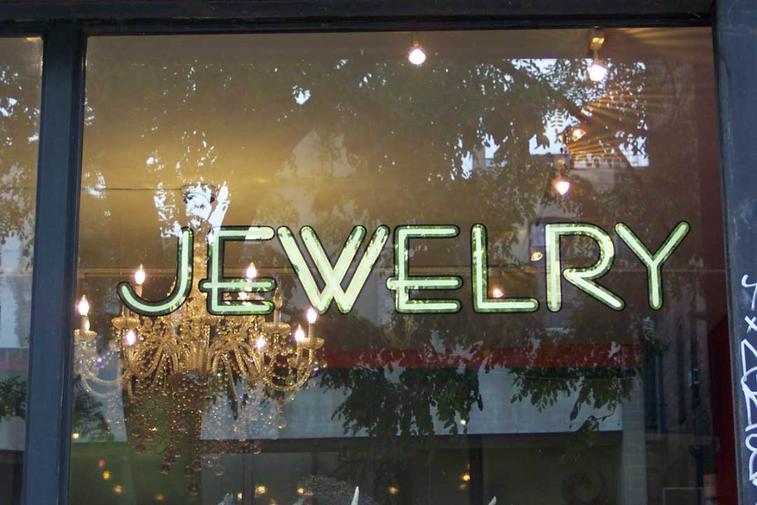 Jewelry Store Gold Leaf Sign