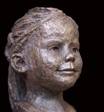 portretje bronzen meisje