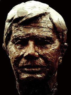 bronzen mannen portret