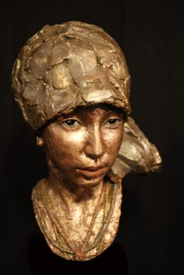 potret meisje brons