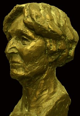 portret Vrouw in Brons