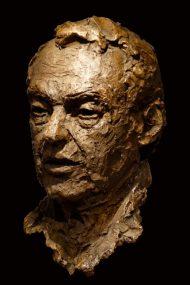 portret Hans van Mierlo in brons