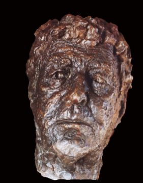 portret man in brons