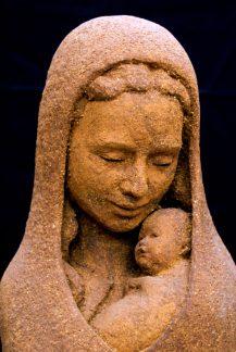 portret Maria met Jezus