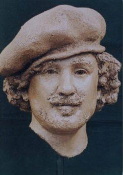 portret Rembrandt keramiek