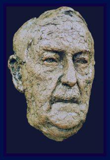 portret vader brons