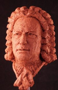 portret van J S Bach