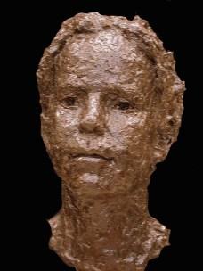 portret meisje in brons