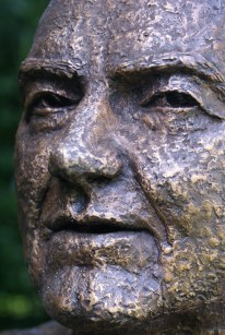 bronzen gezicht