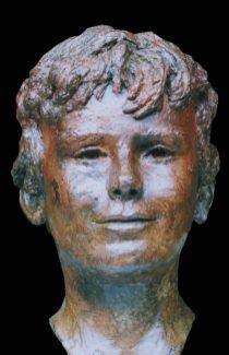 jongenshoofd in brons