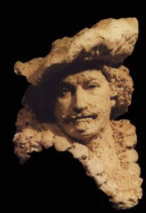 portretkop van Rembrandt