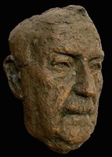 Oude man in brons